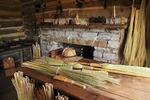 Broom maker's cabin at Old Fort Harrod State Park, Harrodsburg, Kentucky