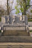 Federal Monument honoring Kentucky pioneers at Old Fort Harrod State Park, Harrodsburg, Kentucky