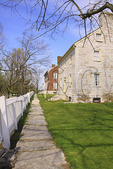 Preserved historic structures at Shaker Village of Pleasant Hill, Harrodsburg, Kentucky