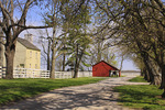 Historic building and barn at Shaker Village of Pleasant Hill, Harrodsburg, Kentucky