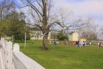 School children on tour at Shaker Village of Pleasant Hill, Harrodsburg, Kentucky