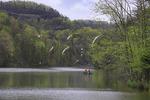 Fishermen on Mill Creek Lake, Natural Bridge State Resort Park, Slade, Kentucky