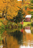 Mill pond, Weston, Vermont