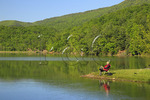 Fisherman at Douthat State Park, Clifton Forge, Virginia