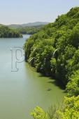 Boat on Lake Moomaw, Covington, Virginia
