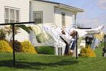 Laundry Drying in the Breeze, Mennonite Farm, Shanandoah Valley, Dayton, Virgnia, USA