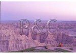 Dusk at Pinnacles Overlook, Badlands National Park, Rapid City, South Dakota