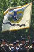 Virginia Military Institute Cadets and Flag at the Battle of New Market, Virginia