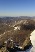 Appalachian Trail, On Little Stony Man Mountain, Looking at Skyline Drive, Shenandoah National Park, Virginia