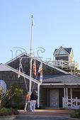 Raising the flags at the North Carolina Maritime Museum, Beaufort, North Carolina, USA