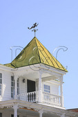 Weathervane on roof of Historic 1854 Carteret Academy in Beaufort, North Carolina, USA