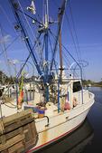 Fishing boat in harbor at Atlantic, North Carolina, USA