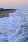 Ocean waves at Sunset, Kitty Hawk, North Carolina, USA