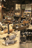 Decoy Exhibit at Core Sound Waterfowl Museum, Harkers Island, North Carolina, USA