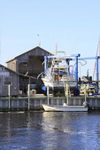 Boatyard at Frisco, North Carolina, USA