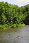 Kayaking on the Youghiogheny Scenic River, Sang Run, Maryland, USA