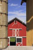 Red Barn at Edge Grove Farm in Loudoun County near Purcellville, Virginia, USA