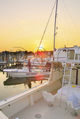 Sunset at Silver Lake Harbor, Ocracoke Island, Cape Hatteras National Seashore, USA