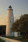 Ocracoke Lighthouse, Ocracoke Island, Cape Hatteras National Seashore, North Carolina, USA