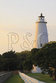 Ocracoke Lighthouse, Ocracoke Island, Cape Hatteras National Seashore, North Carolina, USA