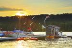 Sunset at Silver Tree Marina on Deep Creek Lake, Thayerville, Maryland, USA