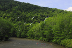 Kayakers on the Youghiogheny Scenic River, Sang Run, Maryland, USA