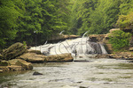 Fisherman at Upper Swallow Falls, Swallow Falls State Park, Oakland, Maryland, USA