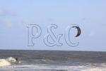 Kiteboarding at Cape Hatteras National Seashore, Outer Banks, Buxton, North Carolina, USA