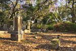 Gravestones at the historic Old Burying Ground, Beaufort, North Carolina, USA