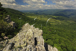View of Germany Valley and Spruce Knob from North Fork Mountain Trail, Franklin, West Virginia, USA