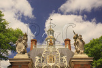 Front Entrance Gate and Cupola of the Governor's Palace in the Historic Area, Colonial Williamsburg, Virginia, USA
