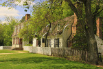 Period houses and shops in Historic Area, Colonial Williamsburg, Virginia, USA