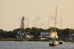 Sunset at Silver Lake Harbor, Ocracoke Island, Cape Hatteras National Seashore, North Carolina, USA