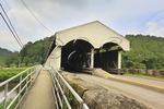 The Phillippi Covered Bridge over the Tygart Valley River, Phillippi, West Virginia, USA