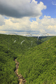 Pendleton Point Overlook, Blackwater River Canyon, Blackwater Falls State Park, Davis, West Virginia, USA