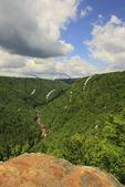 Pendleton Point Overlook, Blackwater River Canyon, Blackwater Falls State Park, Davis, West Virginia, USA