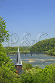 View from Jefferson Rock, Appalachian Trail, Harpers Ferry, West Virginia, USA