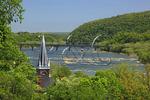 View from Jefferson Rock, Appalachian Trail, Harpers Ferry, West Virginia, USA