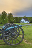 Cannons and Dunker Church, Antietam National Battlefield, Sharpsburg, Maryland, USA