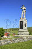 15th Pennsylvania Monument in front of the Sherrick Farm, Antietam National Battlefield, Sharpsburg, Maryland, USA