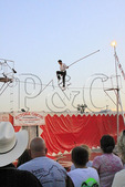 Tightrope Walker, Augusta County Fair, Fishersville, Shenandoah Valley, Virginia, USA