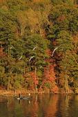 Fishermen on lake at Town Creek area, Lake Guntersville Resort State Park, Guntersville, Alabama, USA