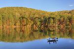 Fishermen at Town Creek area, Lake Guntersville Resort State Park, Guntersville, Alabama, USA