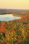 View of Guntersville Reservoir from lodge, Lake Guntersville Resort State Park, Guntersville, Alabama, USA