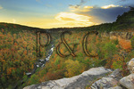 Wolf Creek Overlook, Little River Canyon National Preserve, Fort Payne, Alabama, USA