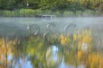 Morning fog on lake, Lake Guntersville Resort State Park, Guntersville, Alabama, USA