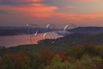 Sunrise view from lodge, Lake Guntersville Resort State Park, Guntersville, Alabama, USA
