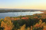 View of Guntersville Reservoir from lodge, Lake Guntersville Resort State Park, Guntersville, Alabama, USA