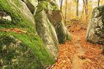 Needle Eye Rock on Laurel Falls Trail, DeSoto State Park, Fort Payne, Alabama, USA