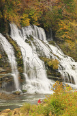 Twin Falls, Twin Falls Overlook, Rock Island State Park, Rock Island, Tennessee, USA